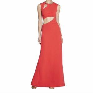BCBG MAX AZRIA Cutout Gown Kimora Sleeveless Dress